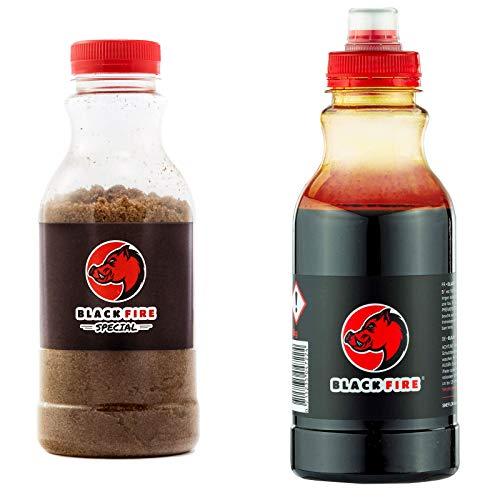 Set Blackfire Buchenholzteer 3kg (6X 500g) und Spezial Salz 3 Kg (6X 500g)