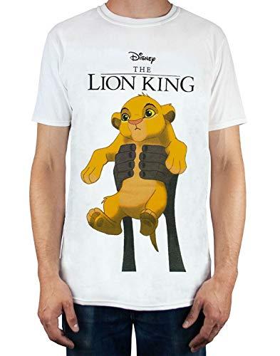 Disney Le Roi Lion Simba Cub Circle of Life Tee Shirt Blanc Homme (L)