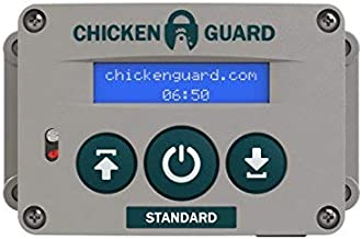 ChickenGuard Standard Automatic Chicken Coop Pop Hole Door Opener, Closer with Timer. Lifts Door up to 2lb (1kg) Batteries or Mains Power.