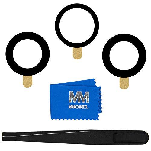 MMOBIEL Reemplazo de Lente para cámara Trasera (Posterior) Compatible con iPhone 12 Pro MAX (Negro) 6.7 Inch Incl. Pinzas y Limpiador