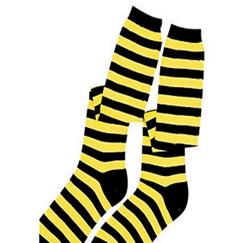 Dress Up America Accessoire de costume de déguisement de chaussettes d'enfants noires / jaunes