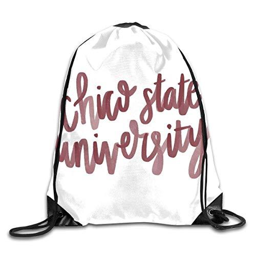 Lawenp Chico State University Drawstring Bag, Sports Cinch Sacks String Drawstring Backpack for Picnic Gym Sport Beach Yoga