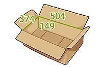 In The Box ダンボール 段ボール「衣類用E(504×374×高さ149mm) 10枚」茶色