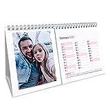 Calendario 2021 para fotos de escritorio, calendario de mesa con fotos personalizadas, 24,5 x 14,5 cm