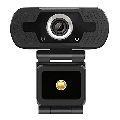 Webcam para ordenador, cámara HD 1080p, micrófono incorporado, ordenador de sobremesa portátil, Webcams, USB de 2 megapíxeles Plug and Play, cámara para transmisión en vivo y reunión de vídeo negro