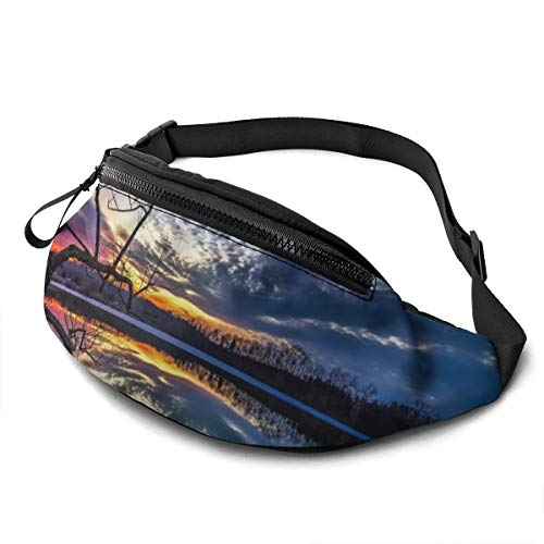 Gkf Waist Pack Bag for Men&Women, Lake Utility Hip Pack Bag with Adjustable Strap for Workout Traveling Casual Running