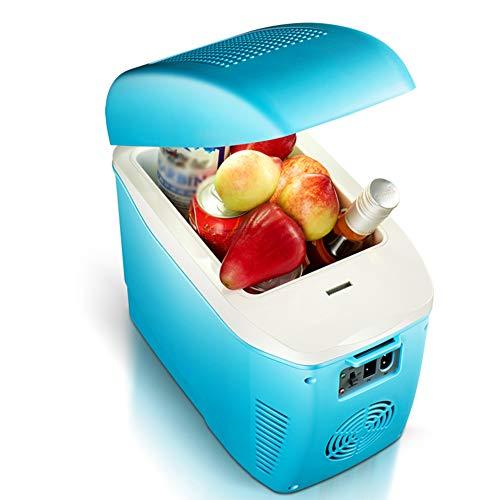 Refrigerador Portátil Para Automóvil, Refrigerador Termoeléctrico De Función Caliente Y Fría De 7.5L, Mini Refrigerador De Bajo Ruido De Enfriamiento Rápido Para Acampar, Viajar (220V / 12V)