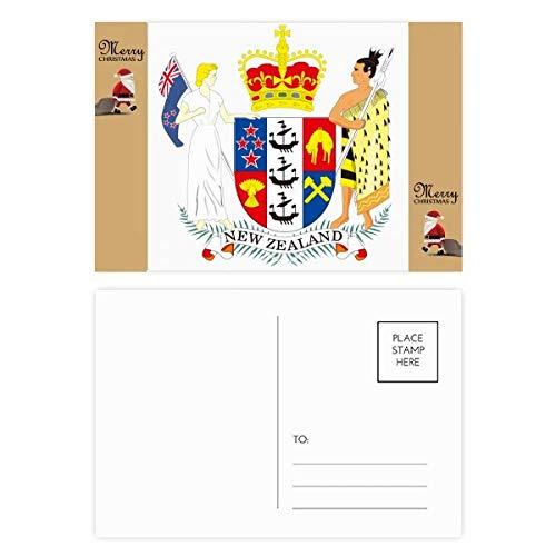 Het Nationaal Embleem van Nieuw-Zeeland Kerstman Gift Ansichtkaart Thanks Card Mailing 20 stks