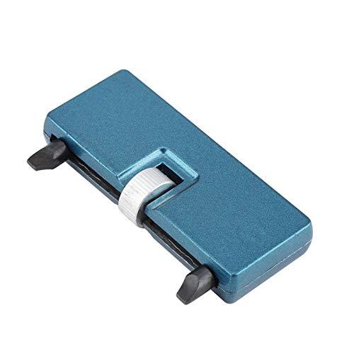 Abridor de tapa trasera de reloj Herramienta de reemplazo de batería Reparación de herramienta de desempaquetado ajustable Acero Portátil y práctico para mantenimiento de reloj (Extremo cuadrado)