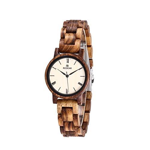 Reloj de madera de cebra: reloj deportivo industrial de alta gama hecho a mano, de cuarzo for negocios, saludable, puede traer buena suerte, romance, el mejor reloj de compañía for mujer