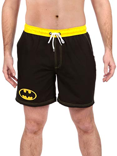 DC Comics Hombre Batman Bañadores de natación Negro Small
