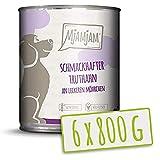 MjAMjAM - Pienso acuoso para Perros - Sabroso Pavo sobre deliciosas Zanahorias - Natural - 6 x 800 g