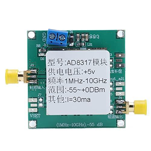 Módulo RF, módulo RF AD8317 1M HZ a 10G Hz 5V DC 1.6mm PCB Detector logarítmico de medidor de potencia RF de panel dual