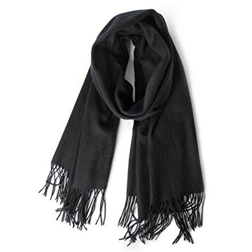 GUOxufei Zowel mannen als vrouwen kunnen kasjmier sjaals dragen in de winter, dikke en lange effen kleur kraag