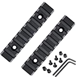 Slosy Rail para Airsoft Kit 2 Riel + 2 Llave + 4 Tornillos Pack 2 Rieles 9 Slots Keymod para Armas Picatinny 20mm/21mm Caza Weaver Adaptador Scope Base de Rifle Montura de Visor Tactico