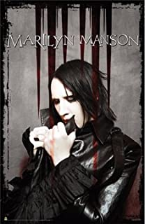 MARILYN MANSON POSTER - BLOODY POSE - RARE NEW 24X36