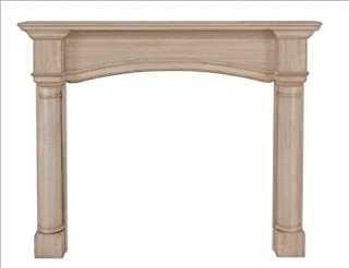 Pearl Mantels, Inc. Pearl 159-48 Princeton Fireplace Mantel Surround, 48-Inch, Unfinished