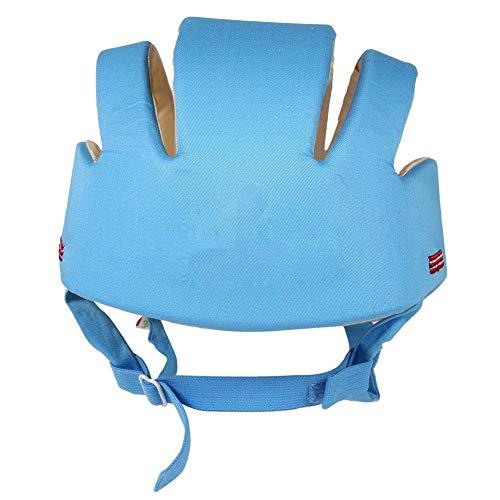 Casco de seguridad para niños Mejor estabilidad Sombrero de seguridad para bebés Cómodo gatear y jugar para aprender Head Of Kid Walk(blue)