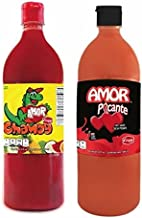Salsas Castillo Amor Variety Pack- (1) Salsa Chamoy Sauce 33oz (1) Picante Hot Sauce 33oz (Pack of 2)