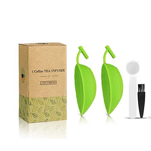 i Cafilas Infusor de té de silicona apta para alimentos, infusor de té, filtro para teteras y ollas