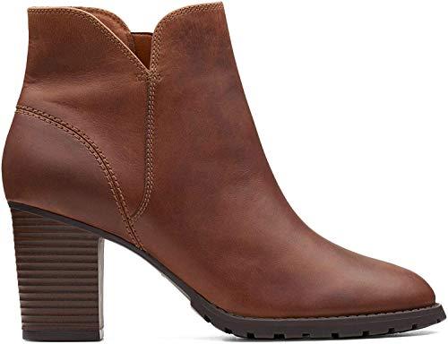 Clarks Verona Trish_buty damskie, brązowy - Braun Dark Tan Leather - 39.5 EU