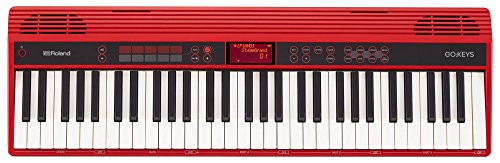 Roland Go-61K Keys Music Creation Keyboard with a Wireless SmartphOne Connection, Red