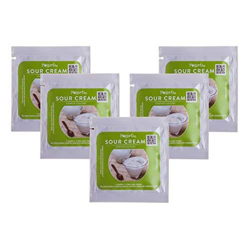 Sauerrahm Starterkultur - organisch, 5 Beutel für 5 Liter originalen hausgemachten Milchprodukt