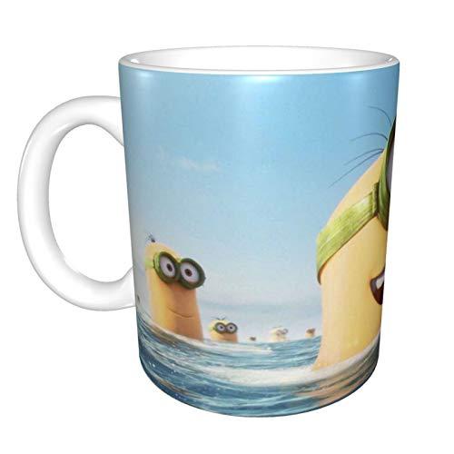 Taza de café con diseño de Minions Inside Cup de cerámica, regalo de Navidad, cumpleaños para niños, niñas, mujeres, hombres, 330 ml