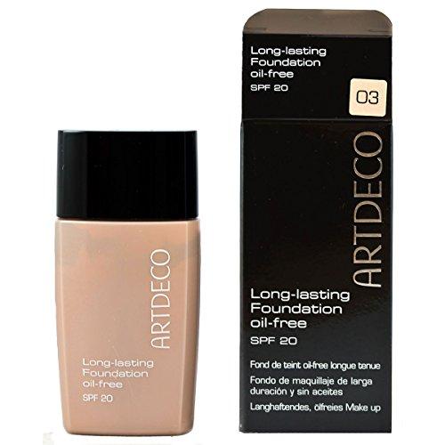 Artdeco Make-Up femme/woman, Long-lasting Foundation Oil-free SPF20 Nummer 3 Vanilla beige, 1er Pack (1 x 30 ml)