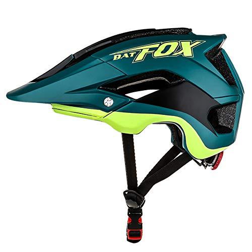 Helm Fahrradhelm Frauen MäNner Erwachsene Fox MTB Integrally-Geformt Fahrradhelm Geeignet für Kopfumfang (56-62cm),A