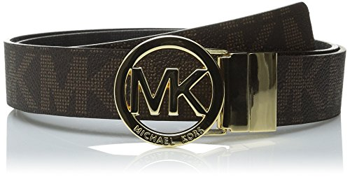 MICHAEL Michael Kors Reversible Belt with MK Logo Plaque - Medium