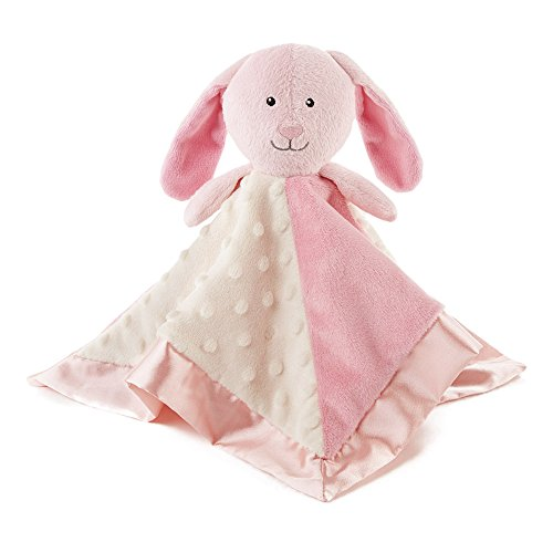 Snoozies Cozy Little Lovies Plush Satin Baby Blanket - Pink Bunny