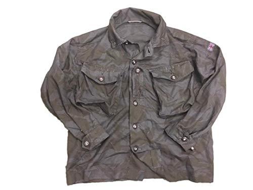 esercito britannico Redyed Ripstop BDU camicia, uomo, Black, M