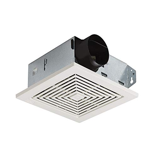 Broan-NuTone 688 Ceiling and Wall Ventilation Fan, 50 CFM 4.0 Sones, White Plastic Grille