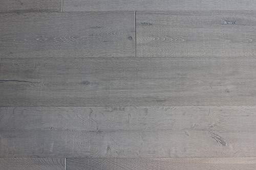 HORI® Klick Parkett Dielenboden Parkettboden Eiche Altholz Carbon gebürstet Landhausdiele 1-Stab weiß geölt I Eiche I 8 Dielen im Paket = 2,89 m²
