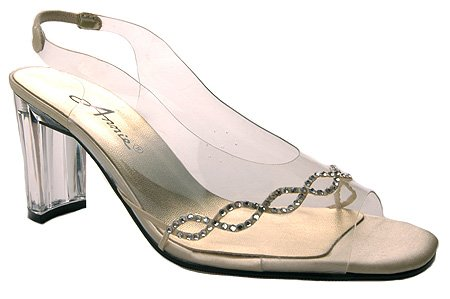 Annie Women's Circle Heels,Gold Polyurethane,10 N