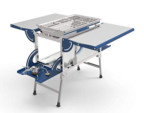 AceCamp Stainless Steel Kitchen and Grill, Portable Cook Station, Quick Setup Barbeque, Outdoor Foldable Food Prep Area, Fold-Up BBQ Table, Camping, Cooking Meals