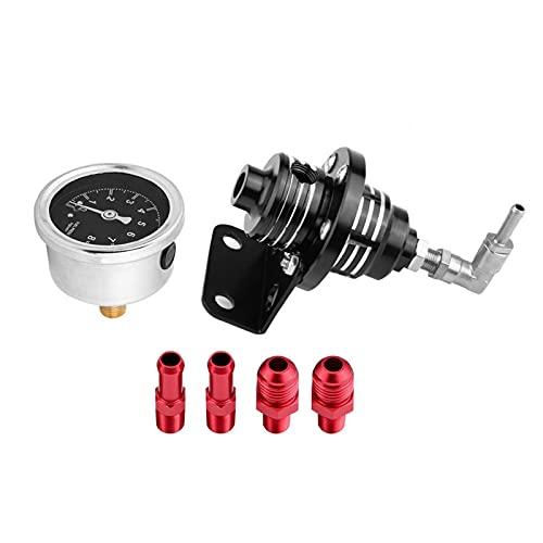 Regulador de presión de combustible negro de repuesto de calibre para automóvil para su vehículo