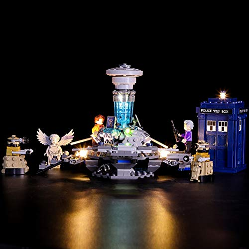 Nlne Conjunto De Luces (Ideas Doctor Who) Modelo De Construcción De Bloques - Kit De Luz LED Compatible con Lego 21304, NO Incluido En El Modelo