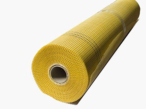Armierungsgewebe 165g /m² 4x4 mm GELB 50m² Glasfasergewebe Gewebe Putzgewebe Putz VWS- und WDVS System
