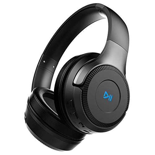 PONYBRO H2 Bluetooth Headphones Over Ear,Dual 50mm Drivers HiFi Stereo Wireless Headphones Noise Cancelling, Wireless Headset with Mic and Wired&TF Card Mode for Cell Phones/PC/TV. Black