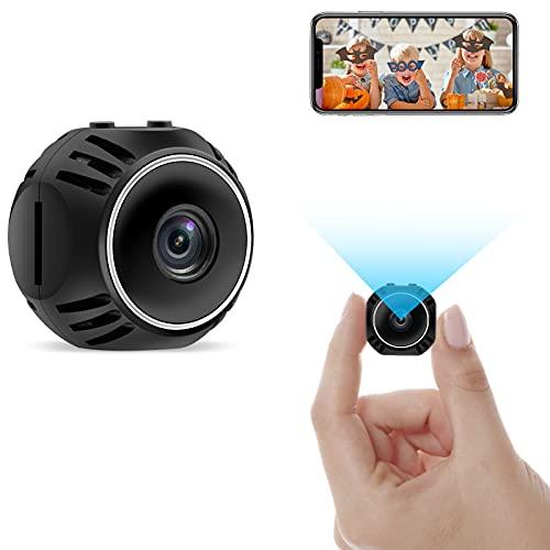 CYI Mini Telecamera Spia Nascosta, Portatile Microcamera WiFi Videocamera con Rilevamento di Movimento e Controllo Remoto per Interno/Esterno