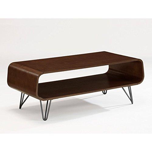 Walnut Finish Retro Modern Astro Coffee Table