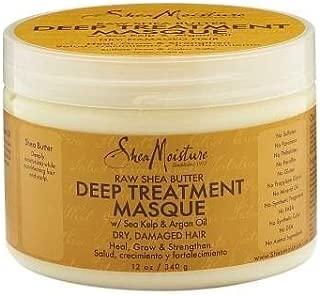 SheaMoisture Raw Shea Butter Deep Treatment Masque, 12 Ounces - 2pc