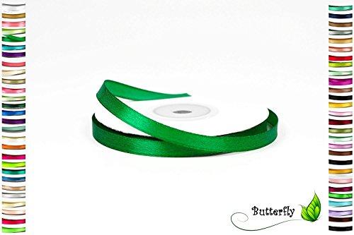 Creativery 25m Rolle Satinband 6mm // Schleifenband Deko Band Dekoband Geschenkband Dekoration Hochzeit Taufe (grün 580)