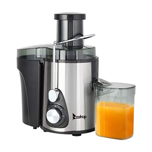 Review Of Juicer, 110V 600W 75MM Large Caliber - 600ML Juice Cup - 1000ML Slag Cup - Double Gear Ele...
