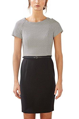 ESPRIT Collection Damen 997EO1E800 Kleid, 001/BLACK, 36