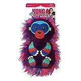 KONG Roughskinz Suedez Monkey Squeaker Dog Toy Purple Medium