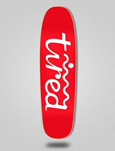 lordofbrands Tired Monopatín Skate Skateboard Deck Logo Two On Chuck 8.625