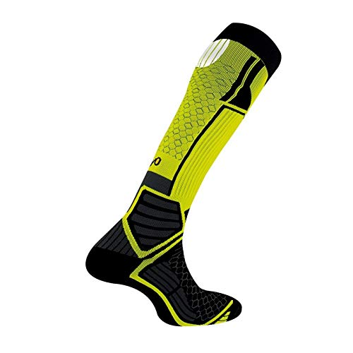 Thyo - Chaussettes hautes Energy Run - couleur - Jaune - Pointure - 35-37